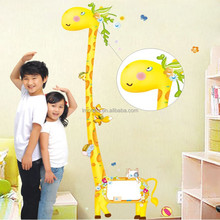 Decoration children's room bedroom classroom environmental giraffe height background hot sell popular charm wall stickers XY1109
