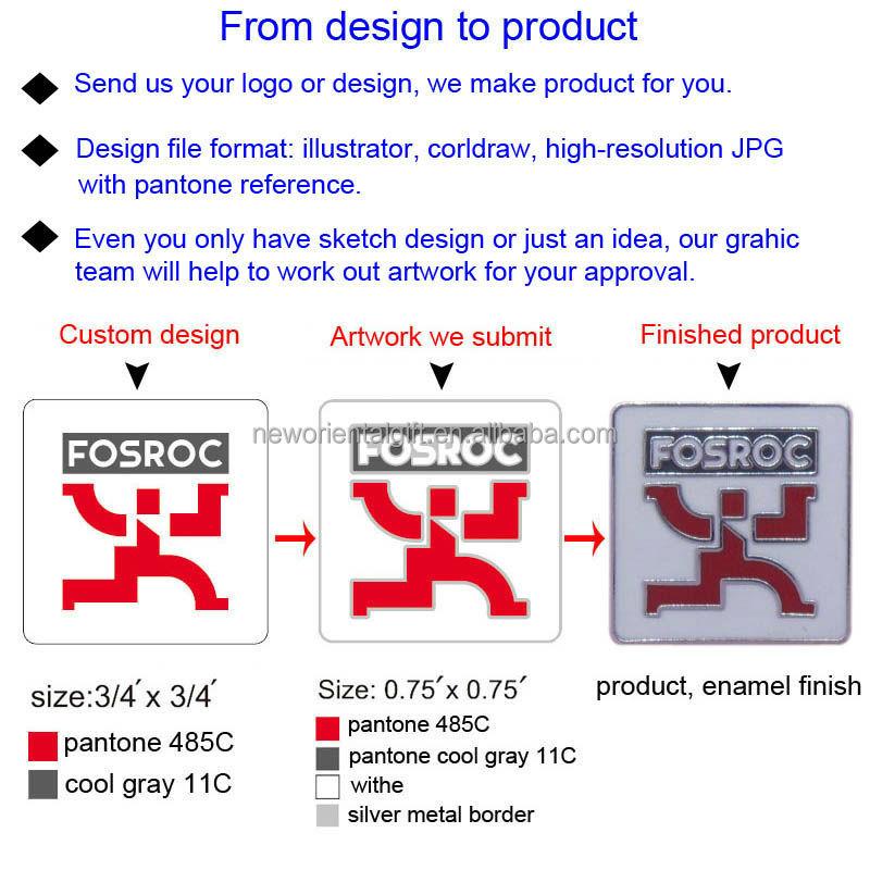 Cheap Design Wholesale Metal Souvenir Enamel Cross Flag Lapel Pin