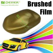 DEREK High Quality gold Brushed Aluminum Vinyl Film For Car Stickers With Air Bubble Free