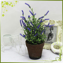 artificial flowers with lavender bonsai No.QH53-0485 of best price in whole sale for free sample in Guangzhou