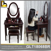 fast delivery antique mirror wall mounted dressing table with drawers