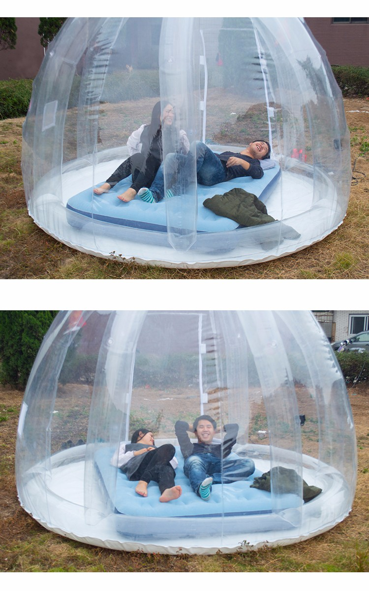pelouse clair transparent igloo d me type serre gonflable bulle tente ext rieure camping. Black Bedroom Furniture Sets. Home Design Ideas