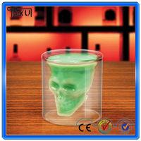 High quality skull beer mug, 73ml bar skull shot glass pirate glass cup whisky glass cup