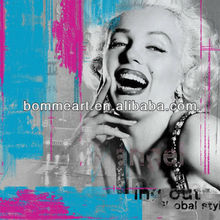 Classic Abstract Marilyn Monroe portrait Oil Paintings for christmas decoration Wall Decoration