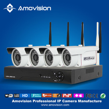 onvif P2P Plug and play 1MP IR security ip camera 720p hd waterproof Outdoor and 4ch NVR Kit system