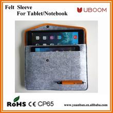 Wool Felt bags for iPad mini for ipad 2/3/4 leather&woolfelt sleeve for samsung tab8.0&10.0