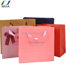 2014 new design Chinese gold manufacturer NAVA brand OEM support recycle birthday paper bag