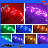 Free shipping multi color universal angel eye rgb color changing halo rings for Mazda 3