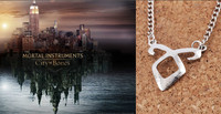 The Mortal Instruments Necklace of Bones Angelic Power Rune Chain Pendant Necklace