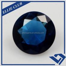 large stone round shape blue sapphire glass stone
