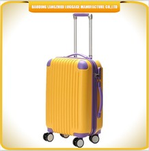Travel products 2015 Beautiful ABS+ PC luggage set hot sale bright color ABS travel luggage
