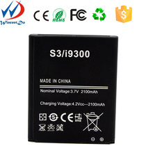 Mobile phone batteries I9300 battery for Samsung galaxy S3