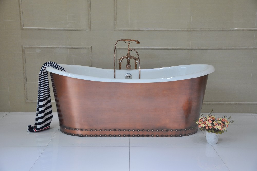 Hot Sale Antique Freestanding CAST IRON TUB Wrapped In