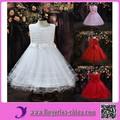 2015 vestido de la muchacha de flor de alta calidad de múltiples colores