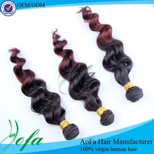 New Arrival Ombre Color Human Hair Weft, 2 Tone Color Ombre Hair