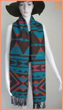 2015 Winter Lady Fashion Soft Triangles Geometric Knitted Blanket Shawl Scarf Acrylic Cape Wrap Thick High Quality