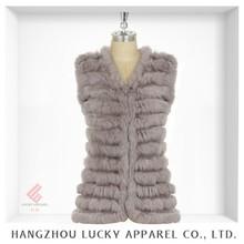 lady women fashion real rabbit fur vest ZW15036