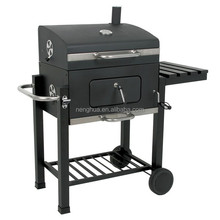 Trolley BBQ Grill German Charcoal Smoker For Barbecue Fish And Meat