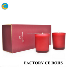 Set of 2 Red Candle Favours For Wedding