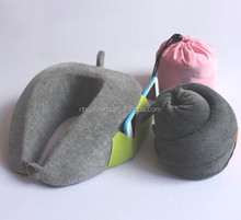folding traveling memory foam neck pillow with button