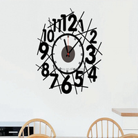 Stylish Fashion Number Wall Clock Home Living Room Bedroom Modern Decor Decal The Best Price