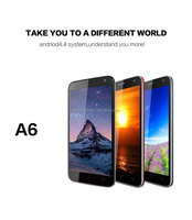 Quad-core 8MP camera 5inches touch screen mobile phone in stock free shipping original KENXINDA A6