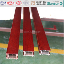 Fireproof grade A wooden coated aluminium windowdoor and sections/ aluminium extrusion profiles for the window and door