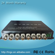 Alibaba assurance trade 8 channel video converter digital to analog 20km long distance network video transmitter for ip camera