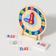 wooden children clock toy
