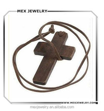 Vintage simple cheap wooden crosses for necklaces
