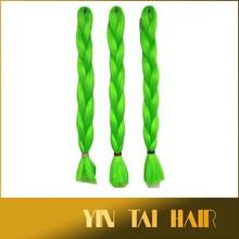 100% Kanekalon Jumbo Braid Synthetic Hair for Dreads - shiny green