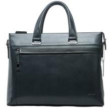 Unique fashion design genuine leather business men 14 inch laptop messenger bag