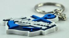 Discount trendy full set off printing promotional custom shaped pvc keychain