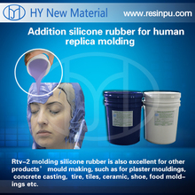 Liquid silicone rubber for human replica molding