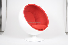 Living room showroom furniture fiberglass red fabric cushions eero aarnio ball chair reproduction
