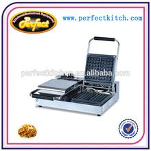 Equipo de aperitivos wafflera/eléctrica máquina waffles/galleta máquina