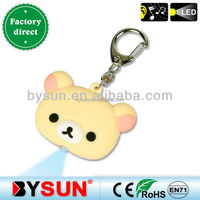 (BS-036 ) Cute little animal Teddy bear Cartoon LED Flashlight