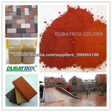 óxido de hierro rojo para los ladrillos de hormigón colores