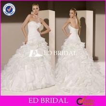 2015 Sexy Design Modified A Line Ruffle Organza Alibaba Wedding Dress Online Sale