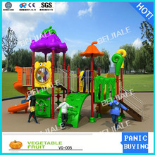 Kids play set new style playground with double slide