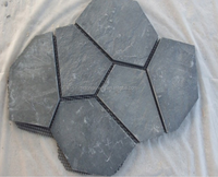 black slate meshed stone for outdoor flooring driveways