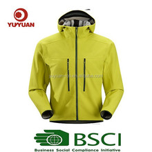 BSCI Audit Factory-2015 OEM Functional Waterproof and Windproof Cheap Men Softshell Jacket