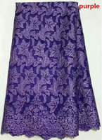 T241-6 purple austrian embroidered cheap tulle fabric