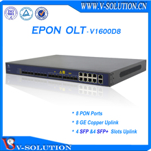 1U 19inch 8 Pon Ports 3 Layer Route FTTH Gepon OLT Equipment