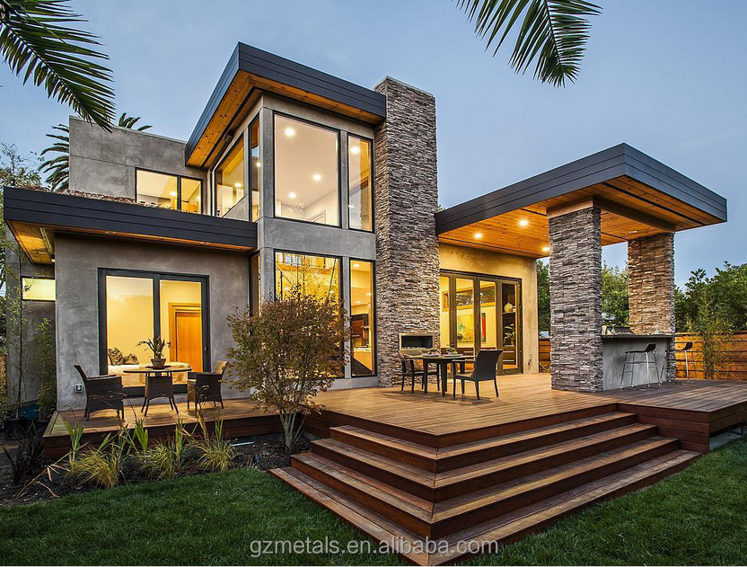 Luxury villa glass prefab house design buy modern villa for Luxury glass homes