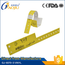 Professional manufacture cheap promotional gift one time using pvc wristband
