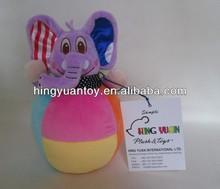 Birght colores elefante roly- poli de juguete
