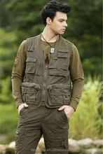 Custom Men's outdoor travel vest
