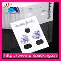 Clear PVC plastic jewelry earring display cards with hanging hole