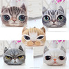 Vivid body decorative pillow 2015 design 3D digital print animal cat cushion wholesale